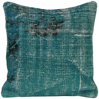 Vintage Green Handmade Overdyed Pillow Cover
