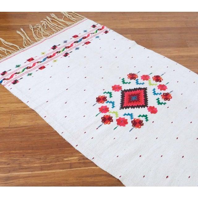 Vintage Bohemian Fringe Rug Blanket- 3' X 7'