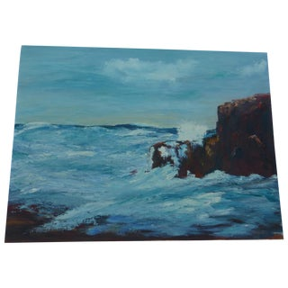 MCM Painting of Turbulent Waves h.l. Musgrave