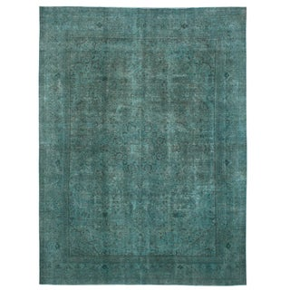 """Vintage Persian Overdyed Rug - 9'11"""" x 13'1"""""""
