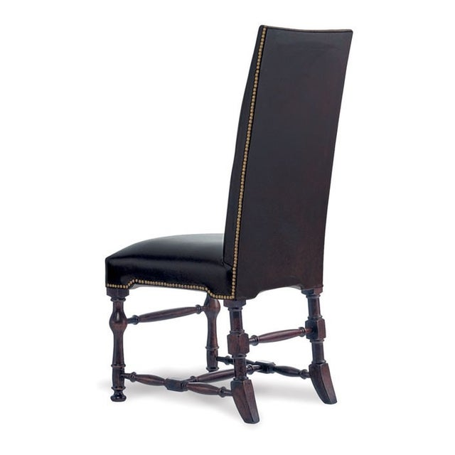 Image of Chocolate Brown Leather High Back Dinning Chair