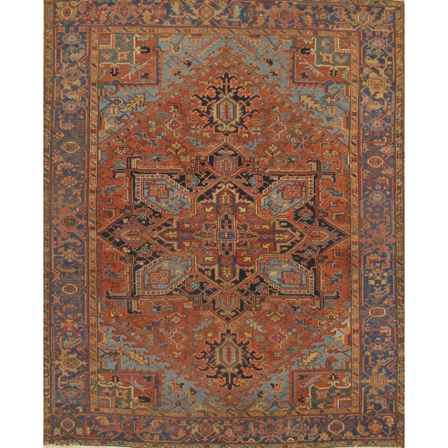 Pasargad N Y Antique Persian Heriz Hand-Knotted Rug - 7′ × 9′ - Image 2 of 3