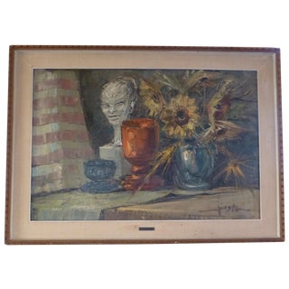 Italian Still Life Painting by V. Majorana