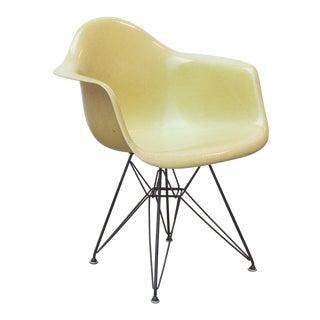 Eames Molded Fiberglass Armchair in Lemon Yellow