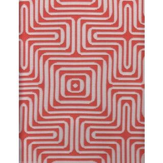 Schumacher Indoor/Outdoor Amazing Maze in Coral - 2.375 Yards