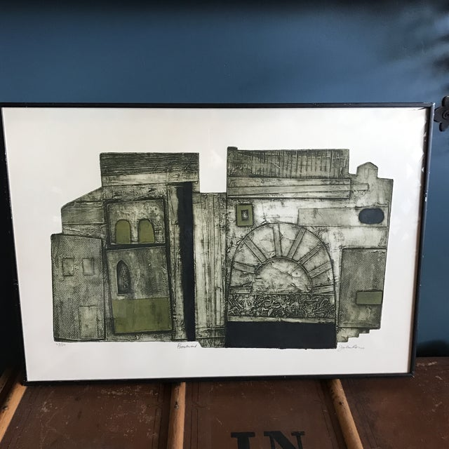 John Ross Architectural Collagraph Chairish