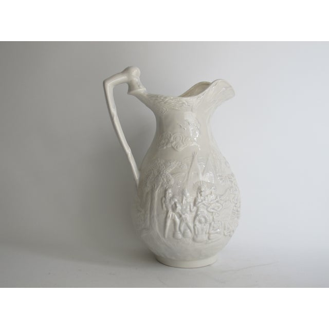 American White Ceramic Wash Basin & Pitcher - Image 7 of 8