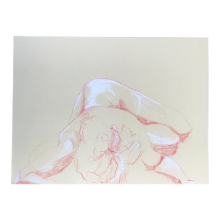 Nude Red & White Drawing