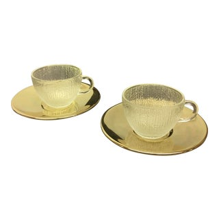 Ernest Sohn Crystal & Brass 4-Piece Tea Service - Set of 2