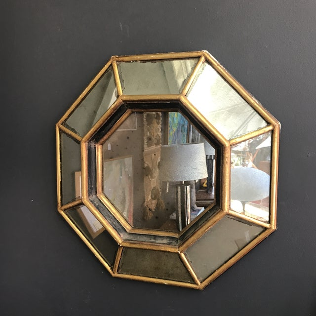 Vintage Octagonal Faceted Mirror - Image 2 of 5
