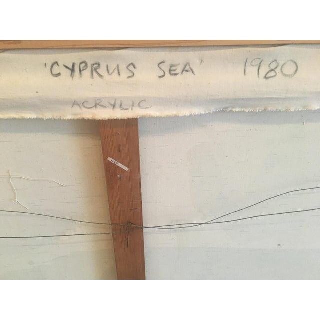 "1980 ""Cyprus Sea"" Abstract Painting - Image 8 of 11"