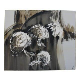 "1960s Abstract Oil on Canvas by Artist Estacien ""Etta"" Benjamin"