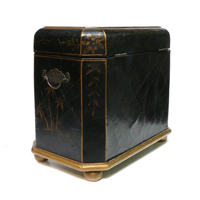 Handmade Chinese Black & Golden Jewelry Box - Image 6 of 7