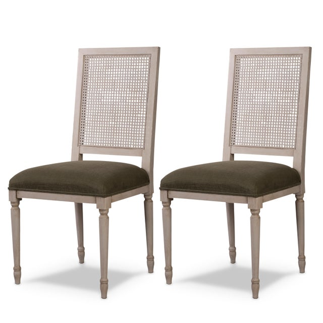 Sarreid Ltd Adams Cane Back Beechwood Dining Chairs- A Pair - Image 6 of 6