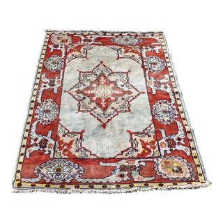 Persian Serapi Style Scatter Rug - 5′1″ × 6′8″