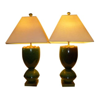Fat Organic Ransmeier Pottery 20th Century Table Lamps
