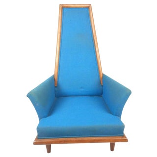 Mid-Century Modern High Back Lounge Chair in the Style of Adrian Pearsall