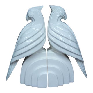 Fitz and Floyd White Bird Bookends - A Pair