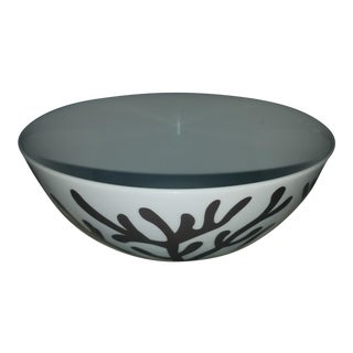 White Glazed Coral Decorated Center Bowl