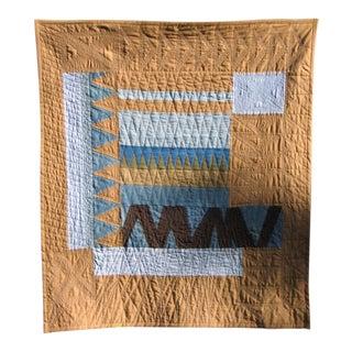 Modern Blue Zag Quilt/Wall Hanging