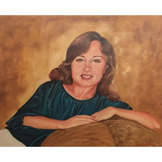 1970s Canvas Portrait of a Woman