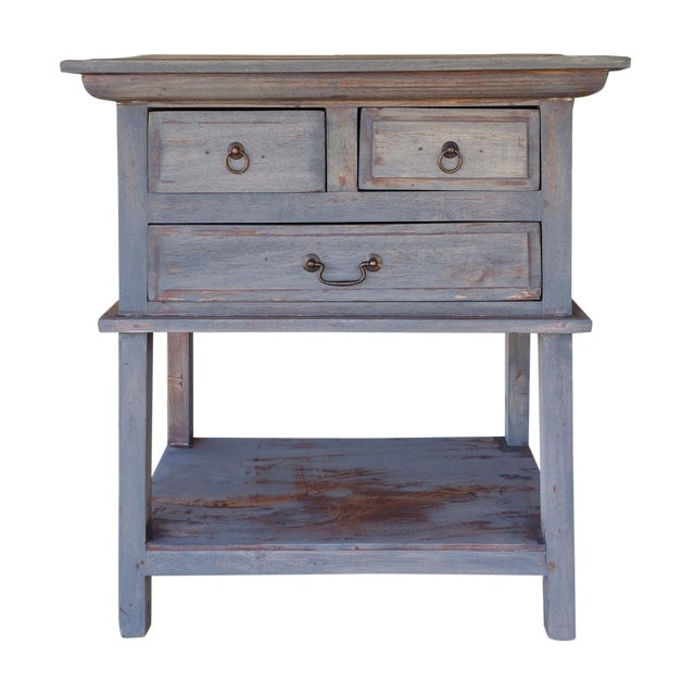 Refinished Three Drawer Entrance Table - Image 1 of 4