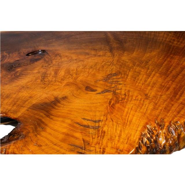 Mid-Century Live Edge Wood Coffee Table - Image 4 of 10