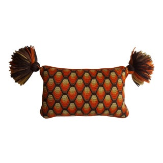 Vintage Tasseled Bargello Pillow