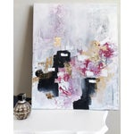 Image of 'Blush' Acrylic & Gold Leaf Abstract Painting