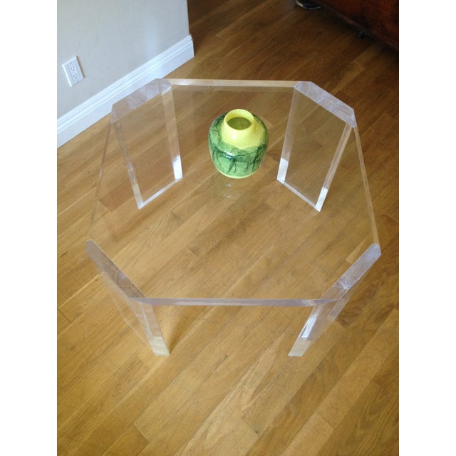 Charles Hollis Jones Vintage Lucite Side Table - Image 7 of 7