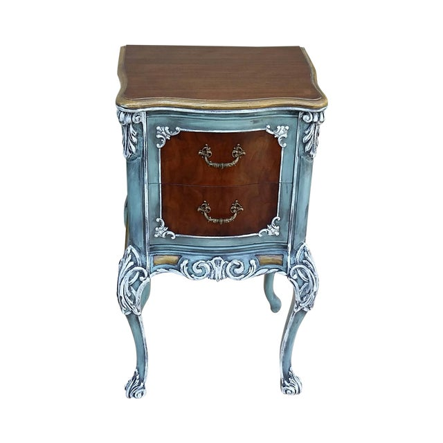 Hand-Painted French Nightstand - Image 1 of 9