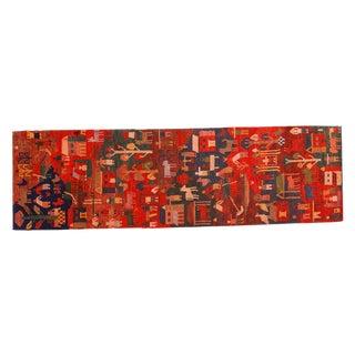 """Tibetan Folk Art Runner - 2' x 6'10"""""""