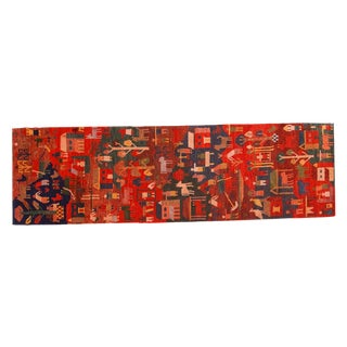 Tibetan Folk Art Runner - 2' x 6'10""