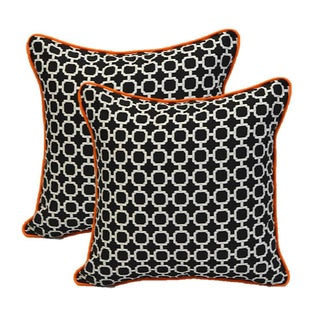 Black Hockley With Orange Cording Pillows - Pair