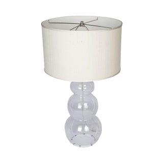 Snowman Glass Lamp