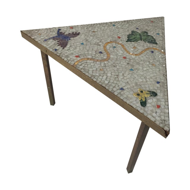 Image of Mid-Century Modern Mosaic Side Table