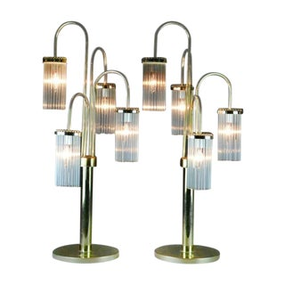 Sciolari Mid-Century Waterfall Lamps - A Pair