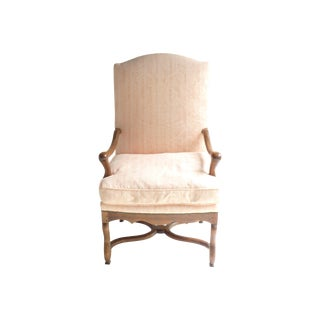 Soft Peach Louis XV-Style Fauteuil