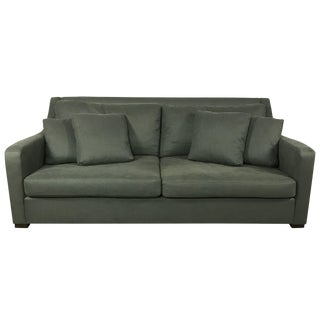 Crate & Barrel Canvas Sofa in Forest
