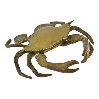 Mid-Century Brass Crab Box