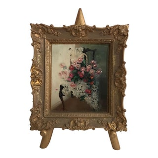 Shabby Chic Painting on a Easel