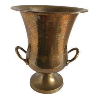 Vintage Hammered Brass Ice Bucket