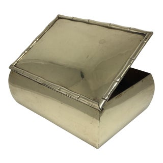 Vintage Brass Bamboo Trimmed Box