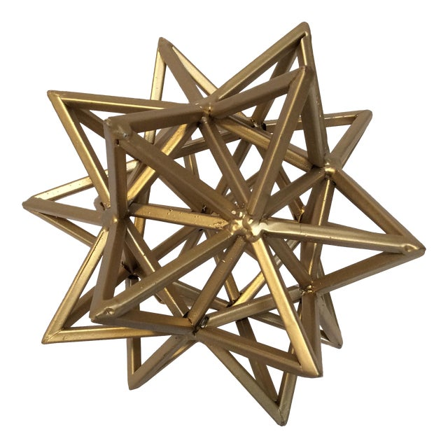 Geometric Gold Star - Image 1 of 7