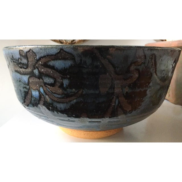 Signed Gerry Williams Mid-Century Stoneware Bowl - Image 4 of 6
