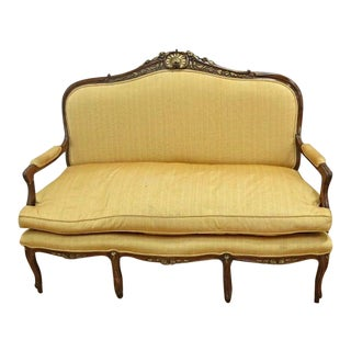Louis XV Style Walnut Carved Loveseat