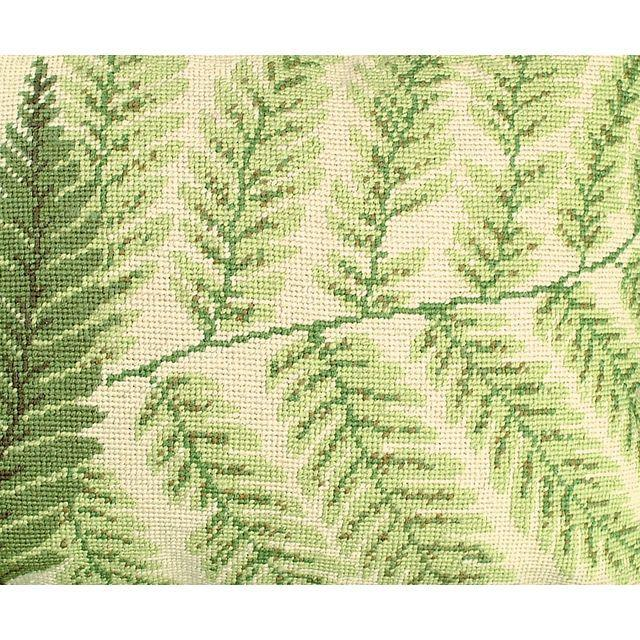 Fern Needlepoint Pillows - A Pair - Image 2 of 4