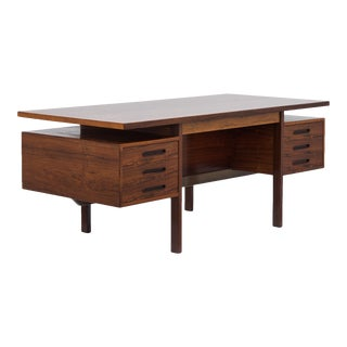 A Rare Freestanding Danish Desk with Integrated Bookcase 1960s