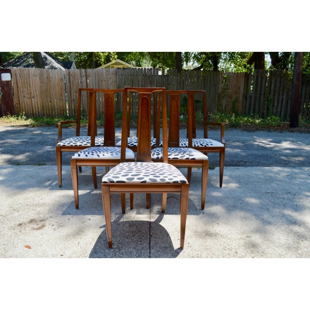 J b van sciver mid century dining chairs set of