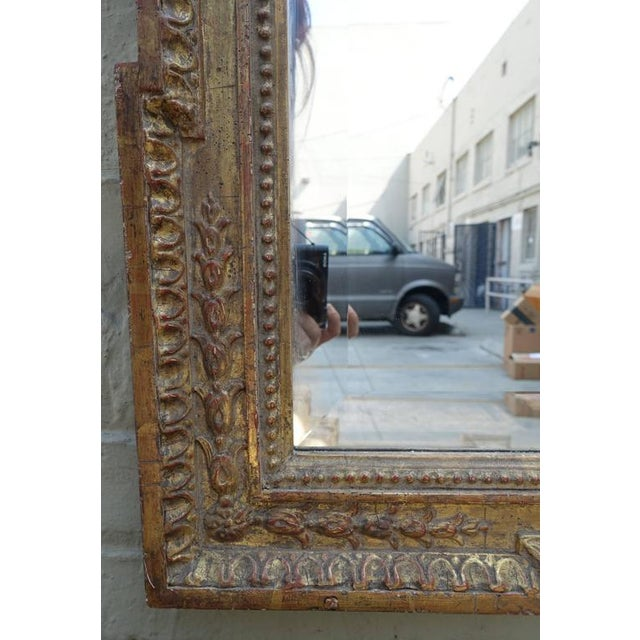 Image of Italian Carved Giltwood Mirror with Bevel